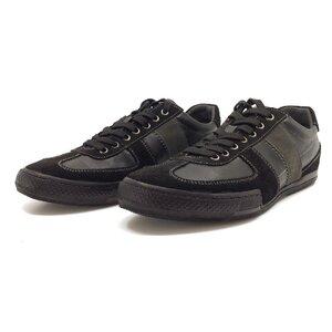 Pantofi sport barbati din piele naturala Leofex - 614 negru box+velur