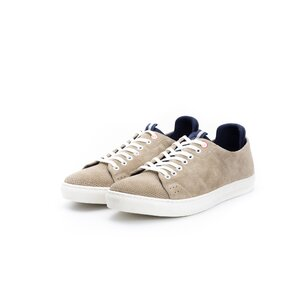 Pantofi sport din piele naturala Leofex - 943 Taupe velur