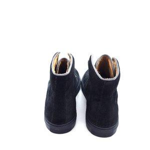 Pantofi sport inalti din piele naturala - Mostra Bleumarine Velur