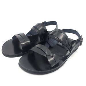 Sandale barbati din piele naturala - 022 Negru