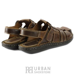 Sandale barbati din piele naturala - 141 maro