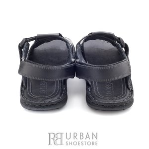 Sandale barbati din piele naturala - 144 negru
