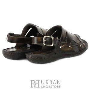Sandale barbati din piele naturala - 305 maro