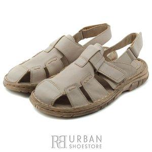 Sandale barbati din piele naturala - 324 bej