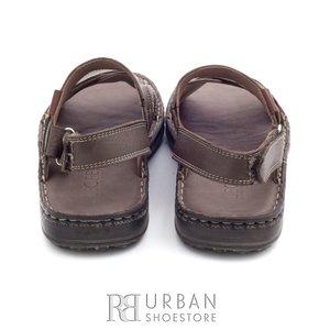 Sandale barbati din piele naturala - 799 taupe