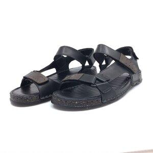 Sandale barbati din piele naturala, Leofex- 902 Negru box