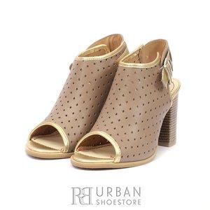 Sandale casual din piele naturala- 033 Taupe