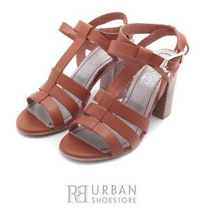 Sandale casual din piele naturala - 035 cognac