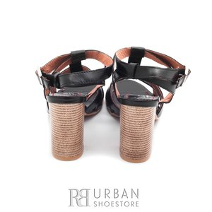 Sandale casual din piele naturala Leofex - 035 negru
