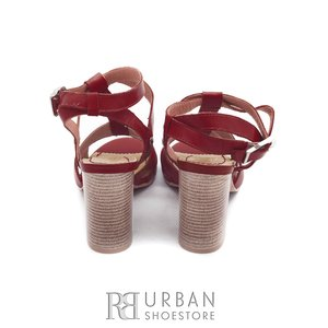 Sandale casual din piele naturala - 035 rosu