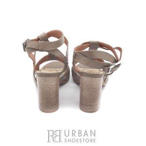 Sandale cu toc dama din piele naturala, Leofex - 035 taupe