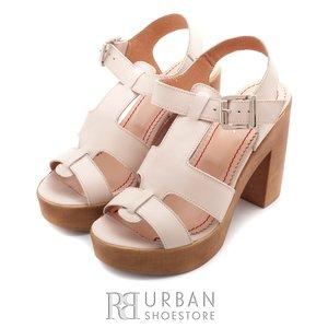 Sandale casual din piele naturala - 041 bej