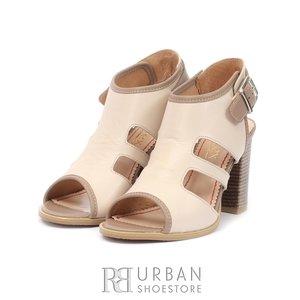 Sandale casual din piele naturala- 111 Bej