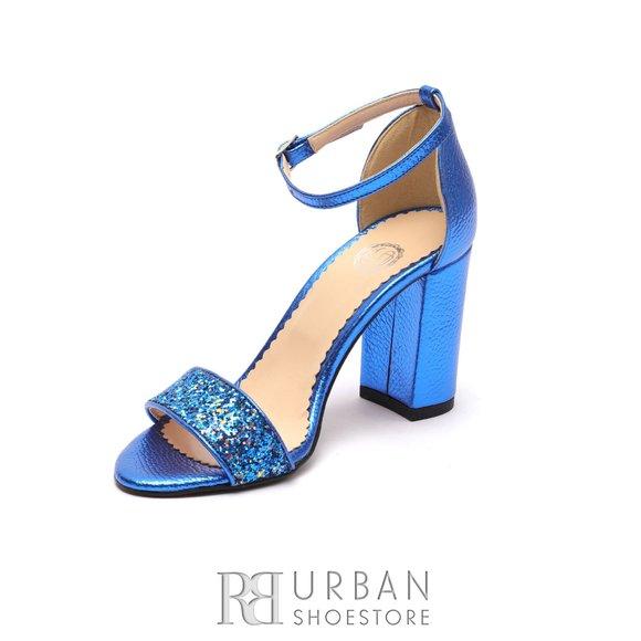 Cu Piele Sandale Albastru Bareta Din Naturala 1061 12 w0nOPk