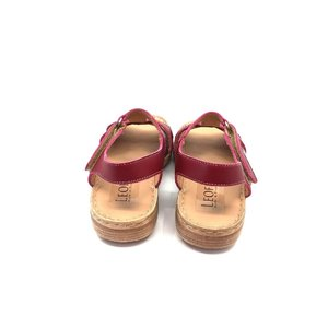 Sandale cu talpa joasa dama din piele naturala, Leofex - 152 Visiniu Box