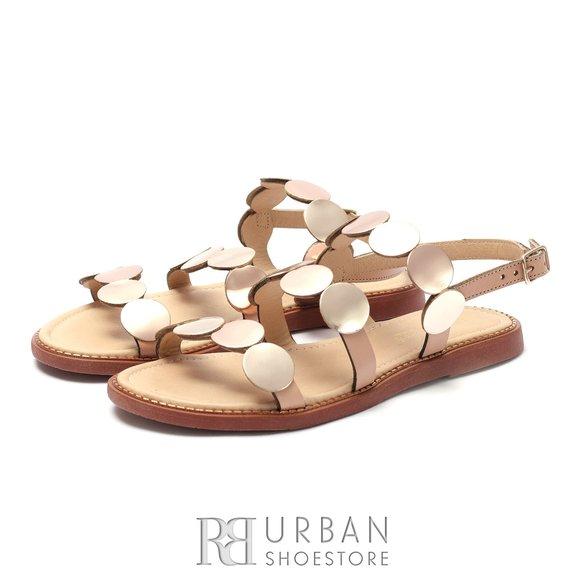Sandale dama din piele naturala - 707 Bronz Metalizat