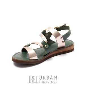 Sandale dama din piele naturala - 84 Verde Bronz Metalizat