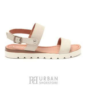 Sandale dama din piele naturala Leofex- 043 Bej Box