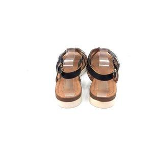 Sandale dama din piele naturala Leofex- 205 Negru