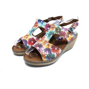 Sandale dama din piele naturala Leofex- 218 Flori Box