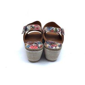 Sandale dama din piele naturala Leofex- 218  Multicolor