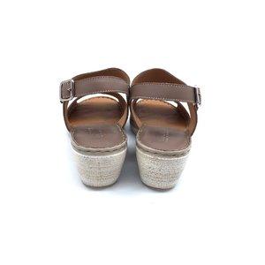Sandale dama din piele naturala Leofex- 218 Taupe Inchis