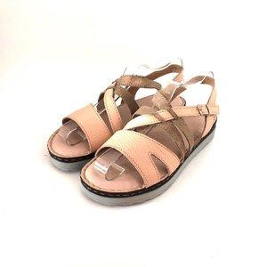 Sandale dama din piele naturala Leofex- Mostra Beatrice Bej Box
