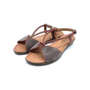 Sandale dama din piele naturala Leofex- Mostra Claudia Velur