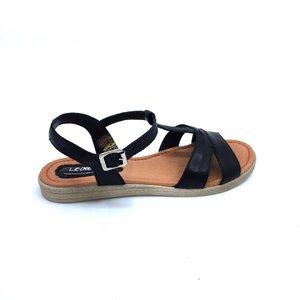 Sandale dama din piele naturala Leofex- Mostra Irina Negru Box