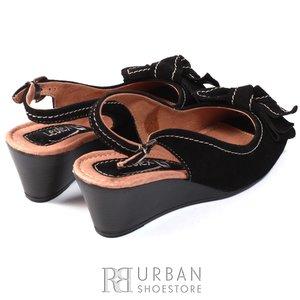 Sandale de velur - 277 negru