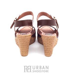 Sandale din piele naturala - 038-2 maro-sarpe