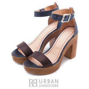 Sandale din piele naturala - 039 blue-maro