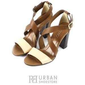 Sandale din piele naturala - 0618-66 maro-bej