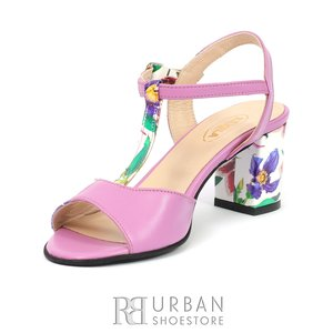 Sandale din piele naturala - 259 Flori -1 Lac