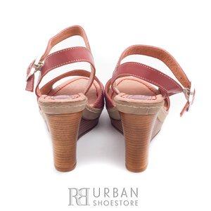 Sandale din piele naturala cu platforma - 034 plamaniu
