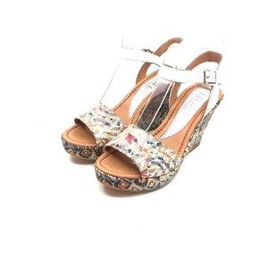 Sandale din piele naturala cu platforma - Mostra Giulia