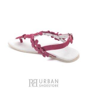 Sandale din piele naturala intoarsa, pentru copii – tina roz