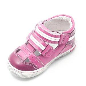 Sandale din piele naturala, pentru fete,  – 120 roz BOX