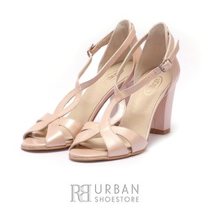 Sandale elegante dama din piele naturala sidefata - 1973 Crem Sidef