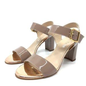 Sandale elegante din piele naturala - C3 Nude Lac