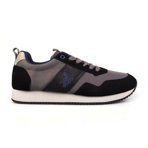 Sneakers barbati U.S. POLO ASSN.-503 Negru cu Gri