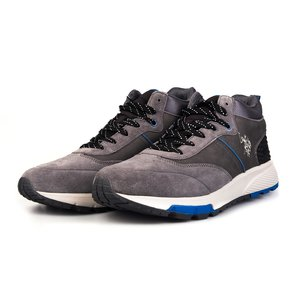 Sneakers barbati U.S.POLO ASSN.-504 Gri Velur
