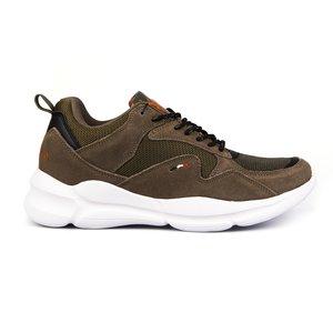Sneakers barbati U.S. POLO ASSN.-506 Kaki Velur