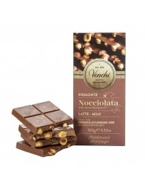 Ciocolata Venchi - Milk Chocolate Bar With Whole Hazelnuts, 100 g