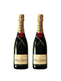 Sampanie Moet Chandon Brut Imperial cutie cu 2 sticle