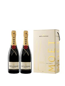 Sampanie Moet Chandon Brut Imperial cutie cu 2 sticle x 750 ml