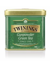 Twinings - Ceai verde Gunpowder cutie metal